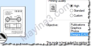 Máy in  A3 chế độ in bản vẽ AutoCad